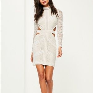 {Misguided} Lace Waist Cut Out Bodycon Dress